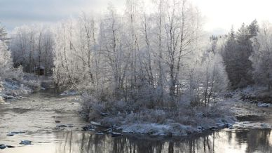 Kuvagalleria Yle Lappi ensilumi Naamijoki Sieppijärvi 21102013