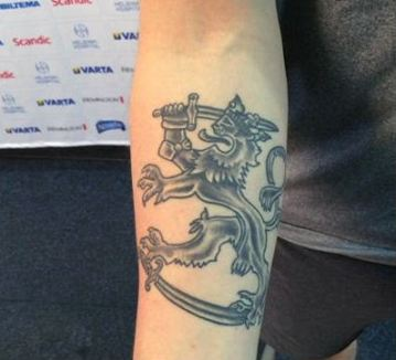 Tatoo of Jake Virtanen adj