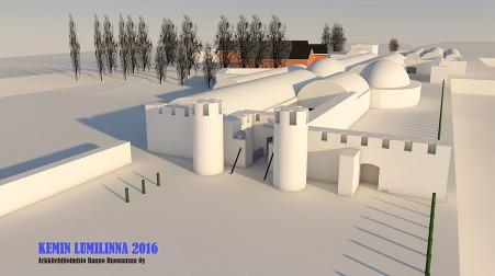 Lumilinna 2016 3D A pieni