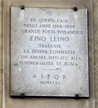 Leinon_muistolaatta Roomassa