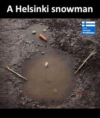 Snowman in Helsinki